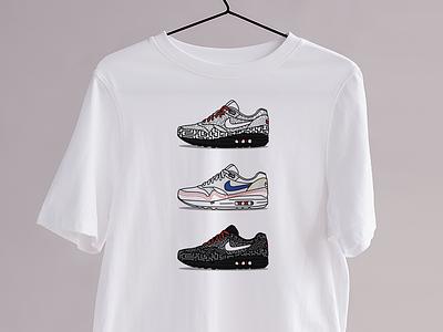 Le Maze - Kicks&Tees (Tee-shirt) pompidou tokyo maze colors art illustrator vector french flat illustration airmax nike sneakers tee shirt tshirt branding