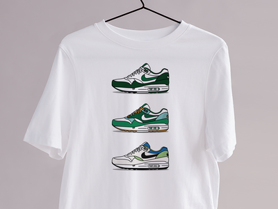 Le Menthol - Kicks&Tees (Tee-shirt) art vector flat french illustration colors tee shirt tshirt airmax nike sneakers branding