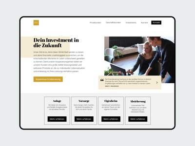 Finance Consulting webdesign uidesign flat consultant consulting finance landingpage
