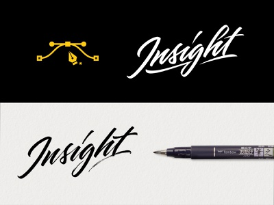 Insight Process signature logo illustrator pen tool process brushpen lettering calligraphy