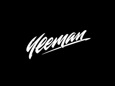Yeeman Vector lure fishing calligraphy logotype logo lettering
