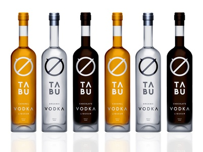 Tabu Vodka branding corporate identity gold coast australia logo logo design verg verg advertising matt vergotis design agency custom font typeface vodka packaging bottle prohibited