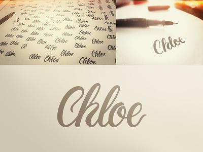 Chloe branding corporate identity gold coast australia logo verg matt vergotis design agency lettering custom type chloe cursive