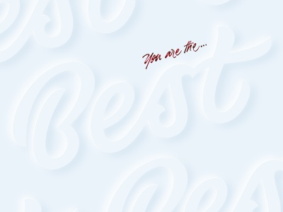 Best white photoshop effect calligraphy lettering logo