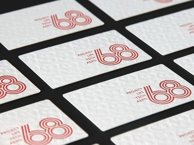 Letter pressed business cards