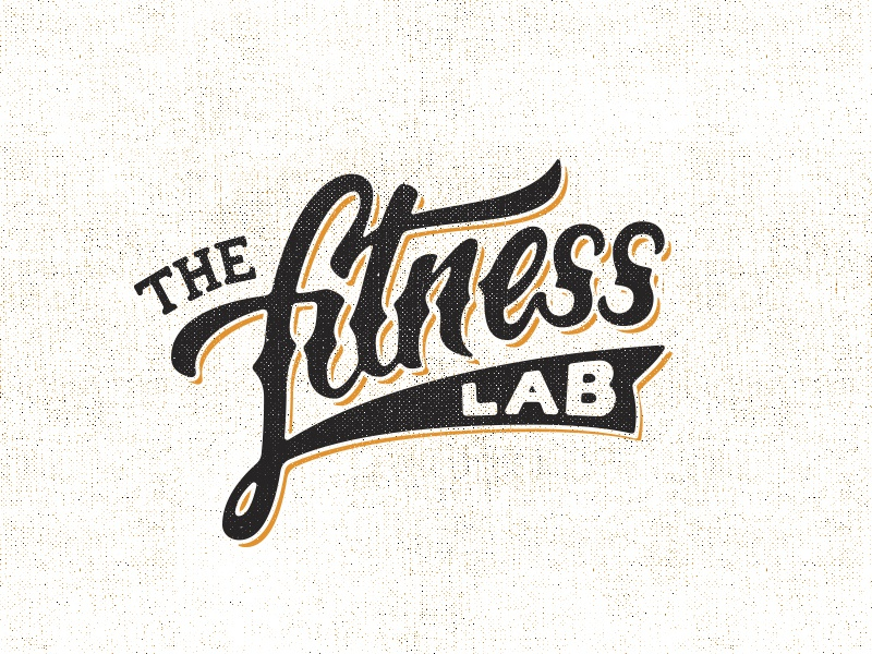 Fitnesslab lettering brush pen cursive hand drawn sketch logo fitness gym