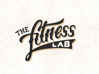 Fitnesslab lettering brush pen cursive hand drawn sketch logo fitness gym