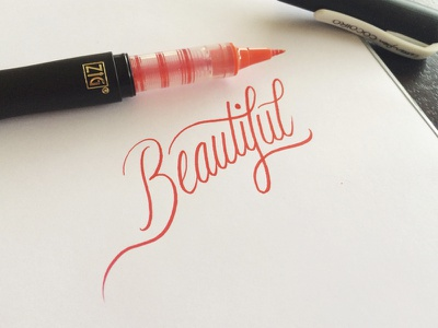 Beautiful logo signature calligraphy typography beautiful lettering brush pen cursive hand drawn sketch