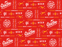 Great Hops Brewing Co. brewery logo lettering hop packaging kangaroo vintage logo design branding craft beer brewery