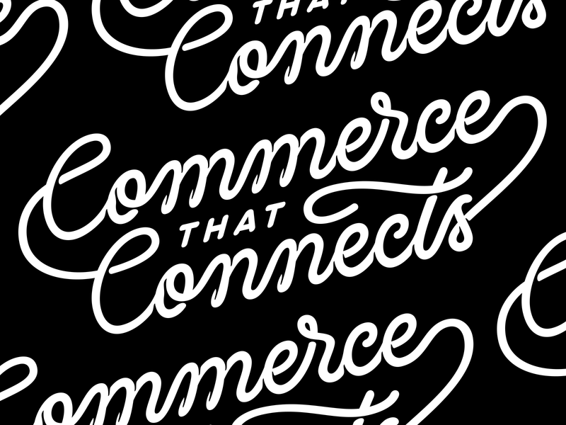 Commerce that Connects spaghetti logo type art typeface connection flow lettering art lettering