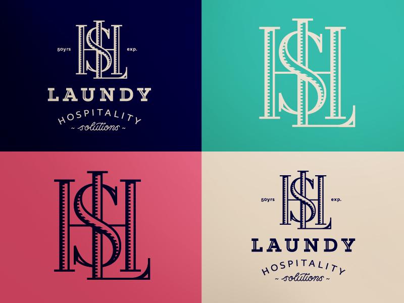 LHS monogram mark icon logo lhs hospitality heritage vintage