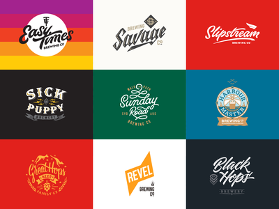 My 9 Breweries illustration icons hops brewery craft beer craft beer breweries branding lettering logo