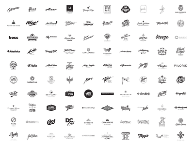 100 logos custom type corporate identity branding vector cursive calligraphy illustration logo design lettering logo