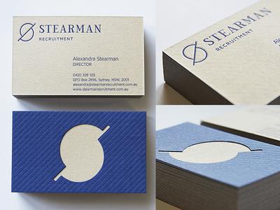 Stearman Cards letterpress branding logo custom type duplex business cards