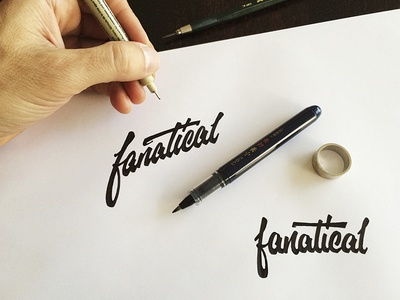 Fanatical lettering brushpen typography script type cursive calligraphy