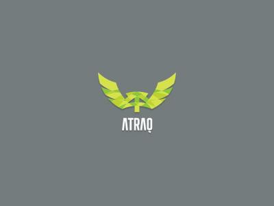 Atraq branding corporate identity logo logo design verg verg advertising matt vergotis design agency monogram wings at