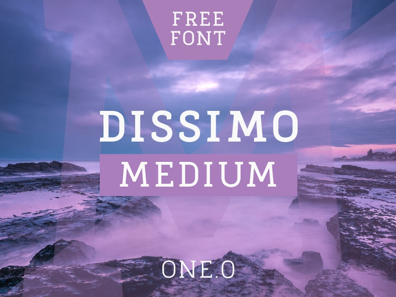 Dissimo FREE FONT free font serif slab font family freebie free font