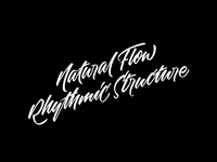 Natural Flow, Rhythmic Structure