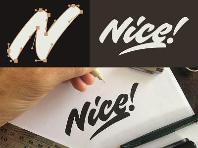 Nice logo brush pen script calligraphy lettering