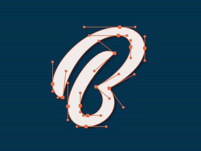 Best process b vector custom typeface script calligraphy lettering