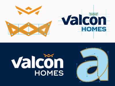 Valcon font timber truss process building crown identity logo