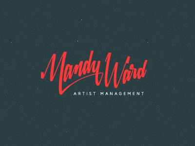 Mandy Ward branding corporate identity logo logo design verg verg advertising matt vergotis design agency custom font hand written signature