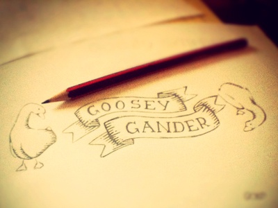 Goosey Gander branding corporate identity logo logo design verg verg advertising matt vergotis design agency sketch goose geese goosey gander pencil