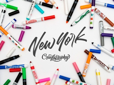 Crayligraphy Workshops New York City new york logotype lettering process calligraphy