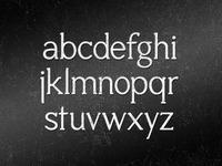 Custom Serif Font Project
