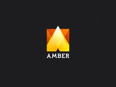 Amber branding corporate identity logo logo design verg verg advertising matt vergotis design agency lettering custom type font typeface amber gradients
