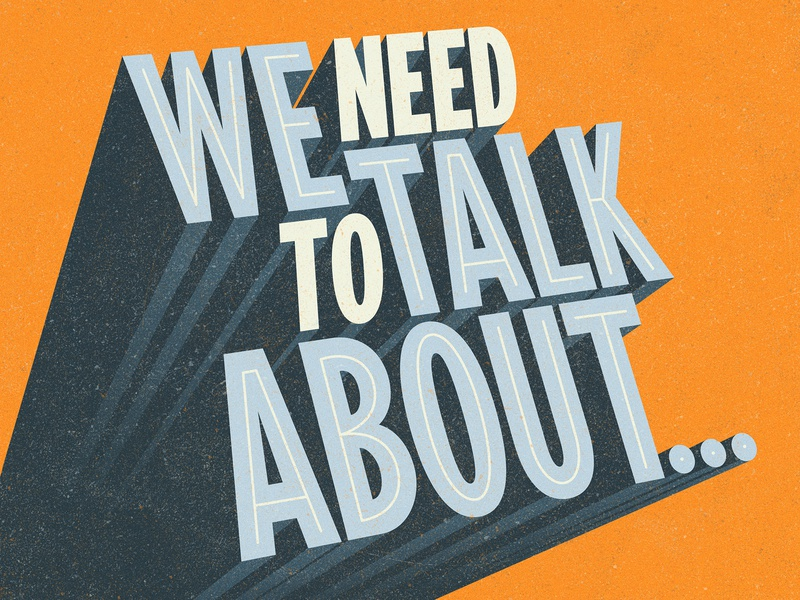 We Need To Talk About Shadow typeface typography verg logo