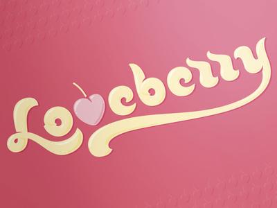 Loveberry branding corporate identity gold coast australia logo logo design verg verg advertising matt vergotis design agency lettering custom type logotype cursive yoghurt swirl love love heart berry