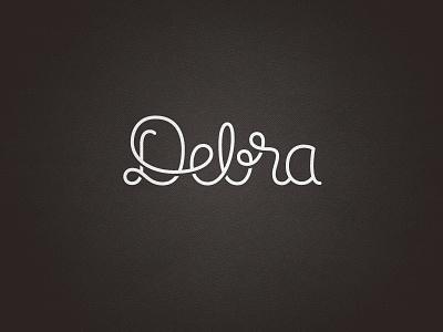 Debra branding corporate identity gold coast australia logo logo design verg verg advertising matt vergotis design agency lettering custom type debra cursive