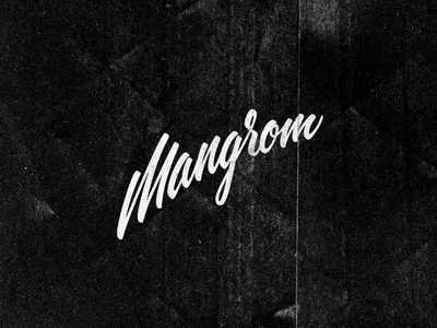 Mangrom branding corporate identity gold coast australia logo logo design verg verg advertising matt vergotis design agency lettering custom type mangrom cursive surfboard