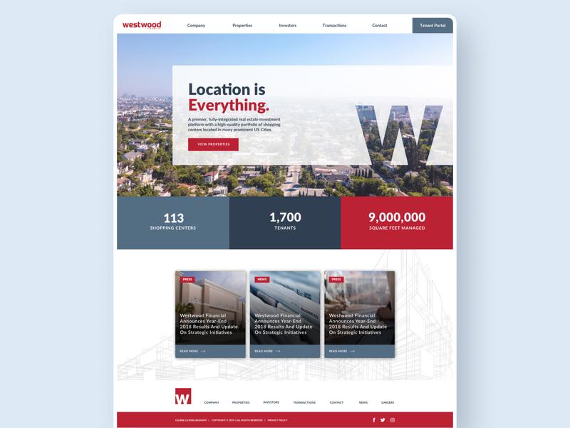 Westwood Financials website web ux ui design branding