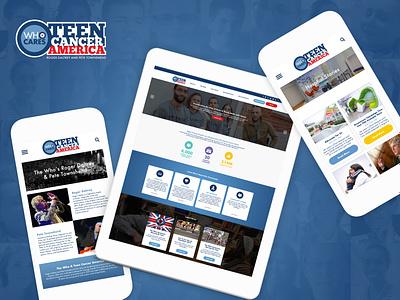 Teen Cancer America website design ux ui branding