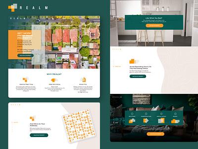 Realm web illustration website ui branding design