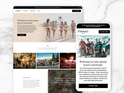 Formaly web ui website design branding