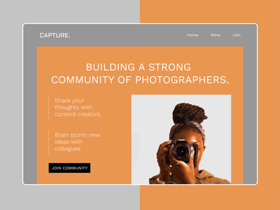 photography community concept frontend ux ui design website design website webdesign
