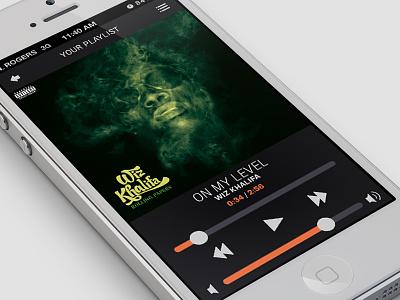 Simple Music App iphone mobile ui interaction music audio