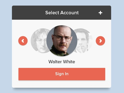 Select Account account selection ui users signin