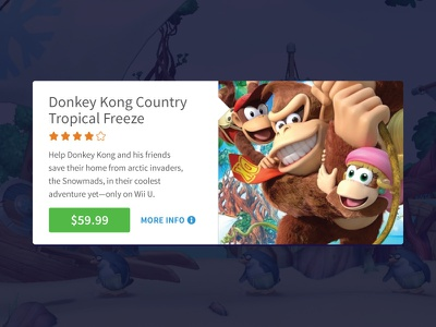 Product Card card ecommerce games donkey kong sale flat