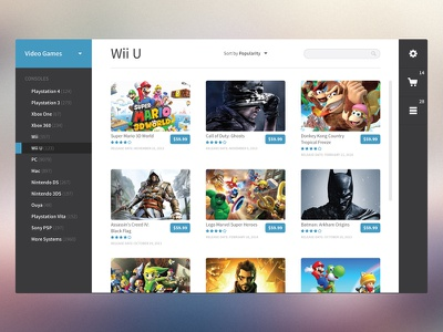 Commerce Module UI ui app design clean flat interface commerce
