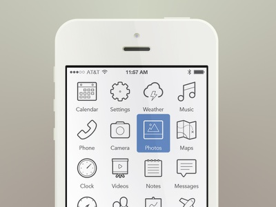 iPhone Reduced Again ui iphone mobile clean interaction menu juicicons flat simple white ios