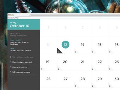 Calendar Full Screen calendar ui flat app clean interface design data