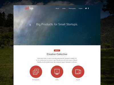 Agency Landing Page ui flat clean landing page website agency concept