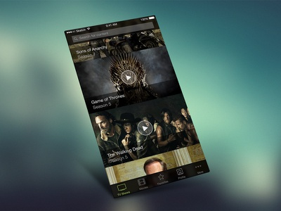 iOS VOD Player app mobile dark ios iphone black shows movies vod video media player