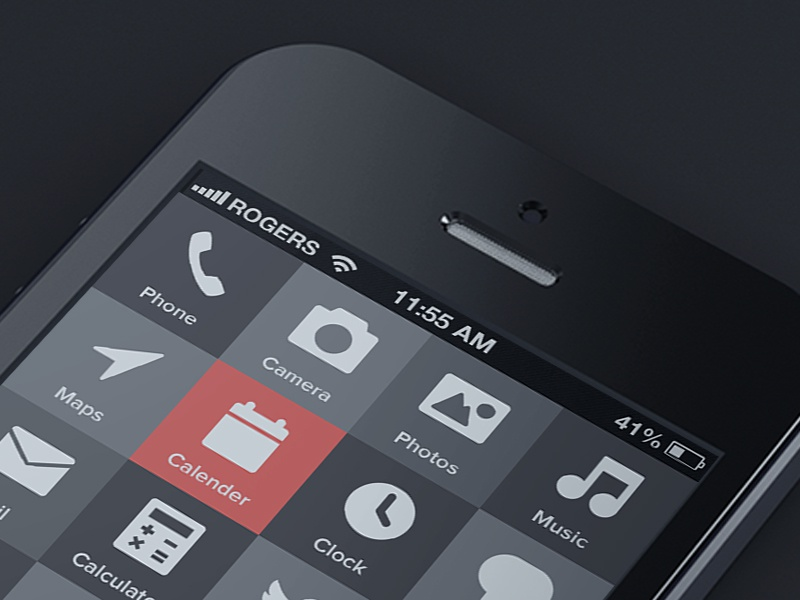 iPhone 5 Reduced iphone mobile ui interaction menu geomicons