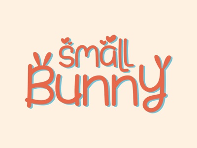 Small Bunny logotype lettering typography
