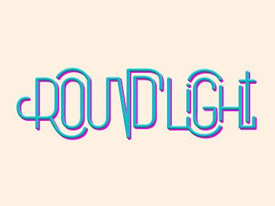 Round Light typography logotype lettering